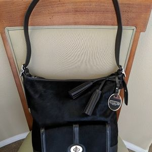 COACH LEGACY Black Haircalf Large Duffle Bag Purse
